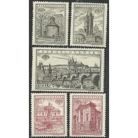 853- 857.a,/5/, Mezinárodní výstava známek PRAGA 1955,**,