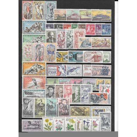 1092- 1154. /63/ ročník poštovních známek 1960, **,