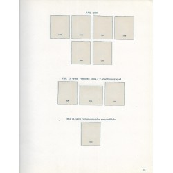albové listy Československo 1963, zasklené, použité,