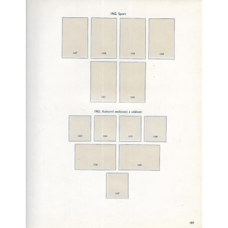 albové listy Československo 1962, zasklené, použité,