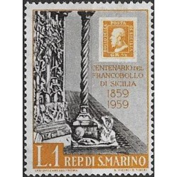 627.- 100 let  poštovních známek Sicílie,**,