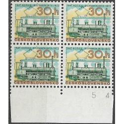 1947.,čtbl, 100. výročí železnice Košice - Bohumín,**,
