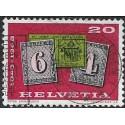 888.- Helvetia- známka na známce ,o,