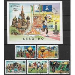 291- 296/5/, Bl5 Olympiáda Moskva 1980,o,