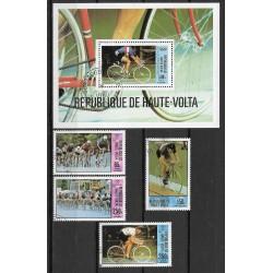 795- 798./5/, Bl55.799 R. de Haute Volta- Olympiáda Moskva 1980,o,