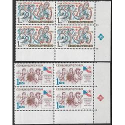 2294- 2295./2/,čtbl,TÚS, 30. výročí února a obrozené NF ČSSR,**,
