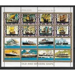 2877- 2892/16/,bl, loď- plachetnice, parníky ,o,