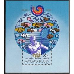 3963,Bl198, Olympijský sport- tenis 1988 ,**,