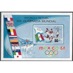 1442,Bl32, Olympiáda Mexiko1968 ,**,