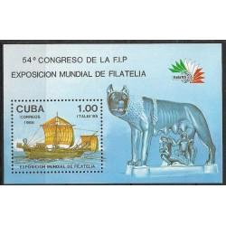 2963,Bl,91, Výstava známek ITALIE 85 Řím ,**,