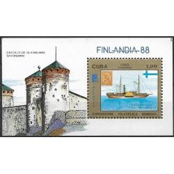 3190,Bl,105, FINLANDIA 88 výstava poštovních známek ,**,