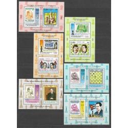 3205- 3216./12/,Bl,106- 111/6/, šachoví velmistři ,**,