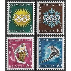 492- 495./4/, Olympiáda 1948- St. Moritz- sport,**,