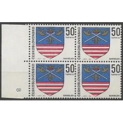 1792.-,čtbl, Znaky československých měst 1969,**,