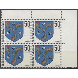1795.-,čtbl, Znaky československých měst 1969,**,