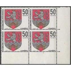 1796.-,čtbl,d.p.rohPA, Znaky československých měst 1969,**,