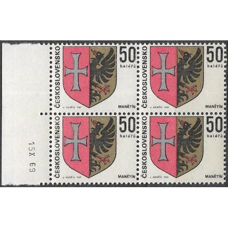 1797.-,čtbl,datum, Znaky československých měst 1969,**,