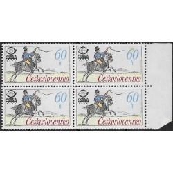 2253.-,čtbl, Historické poštovní stejnokroje,**,