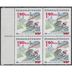 2249.-,čtbl, 30. výročí závodu míru W-B-P,**,