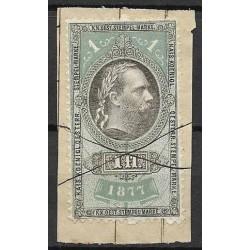 221.b, Ö,kolková známka 1877,o,