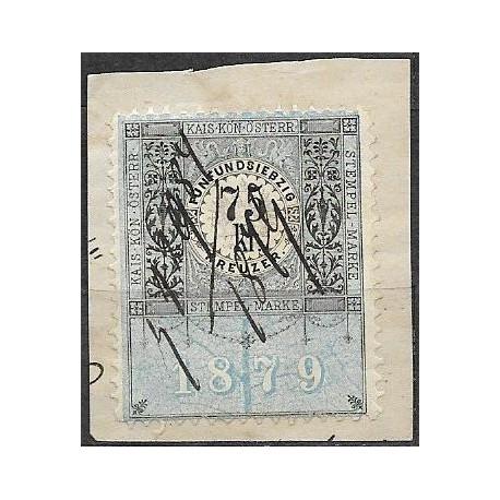 247. vystřižek,Ö,kolková známka 1879,o,