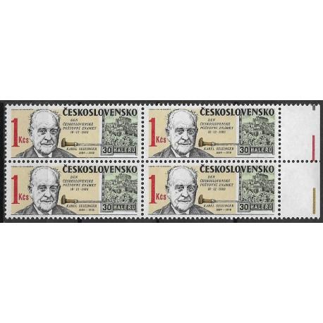 2626.,čtbl, Den čs. poštovní známky 1983,**,