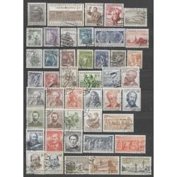 768- 812./45/. ročník poštovních známek 1954 ,o,