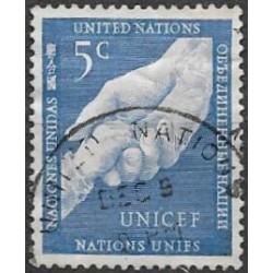 5.- dětská a dospělá ruka OSN v New York  ,o,