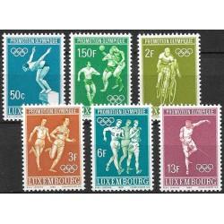 765- 770./6/,Luxembourg Olympiáda Mexiko 1968 ,**,