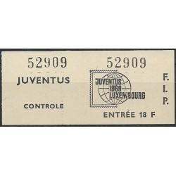 52909, Luxembourg- Juventus1969- vstupenka ,/*/,