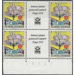 L89.-,čtbl, Světová výstava poštovních známek PRAGA 1978,**,