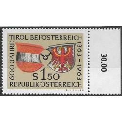 1133.,poč.p, 600 let připojení Tyrolska k Rakousku ,**,