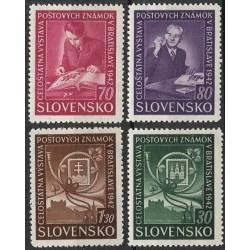 98- 101./4/, Celostátní výstava poštovních známek Bratislava 1942 ,**,