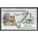 2441.-,DV3/2, výročí- holubice a vlajky ,**,