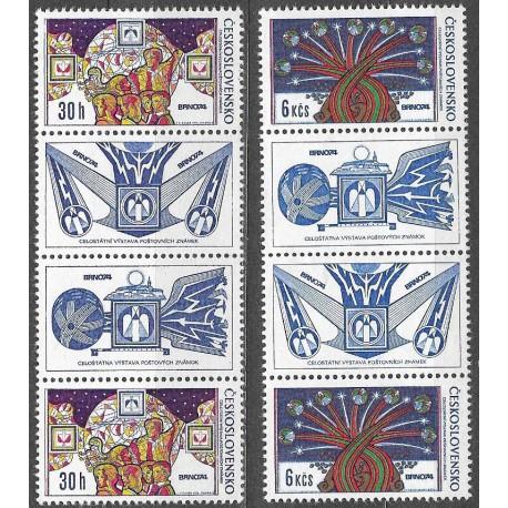 2091- 2092./2/,Ss,K1K2,  Celostátní výstava poštovních známek BRNO 1974 ,**,
