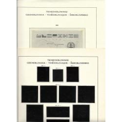 albové listy Československo rok 1969- 1982, použité, pérové desky,