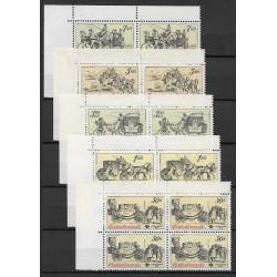 2469- 2473./5/,čtbl.h.l.rohPA, Poštovní muzeum- historické poštovní vozy,**,