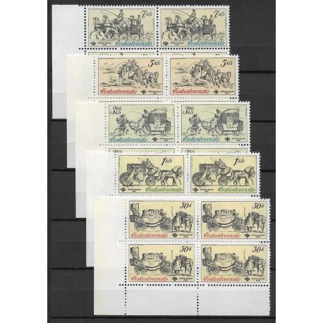 2469- 2473./5/,čtbl.d.l.rohPA, Poštovní muzeum- historické poštovní vozy,**,