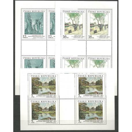 162-164./3/,PL/3/, Umělecká díla na známkách 1997,**,