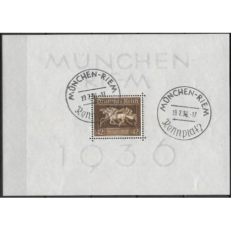 621. Bl4 Dostihy, Das Brown Band von Deutschland ,o-,