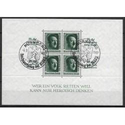 648. Bl9 1. Národní výstava známek Německa ,o-,