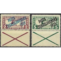 057- 058./2/,KD,B, Spěšné zn. pro tiskopisy z roku 1917 ,**,