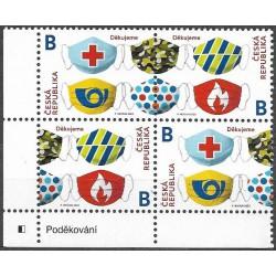 1081- 1082./2/,čtbl.l.d.rohPA,text, Poděkování- hasičům, záchranářům ,**,