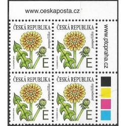 1032,čtbl,text, květena- Pampeliška ,**,