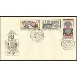 """1553- 1556./4/,FDC/2/, Celostátní výstva poštovních známek ,o"""","""