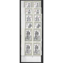 2621-2625./5/,čtbl.d.l.rohPA, Dobové kostýmy ze starých rytin ,**,