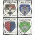 2934- 2937./4/, Znaky československých měst,**,