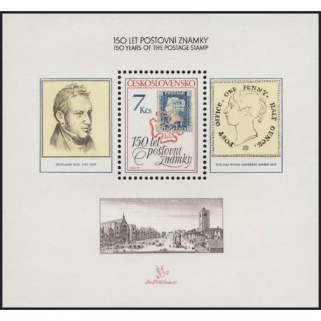 2940.,A, 150 let poštovní známky,**,