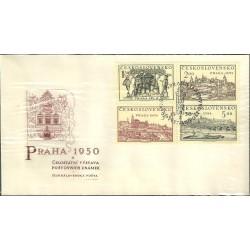 """558- 561./4/,FDC/1/,St, Celostátní výstava poštovních známek PRAHA 1950,o"""","""