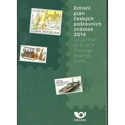 Emisní plán českých poštovní známek na rok 2014,